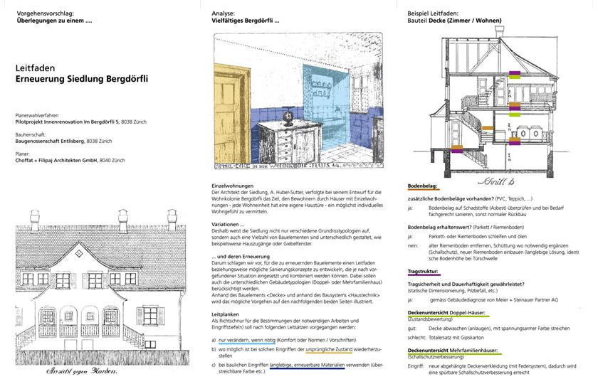 Konzeptvorschlag Pilotprojekt Im Bergdörfli 5