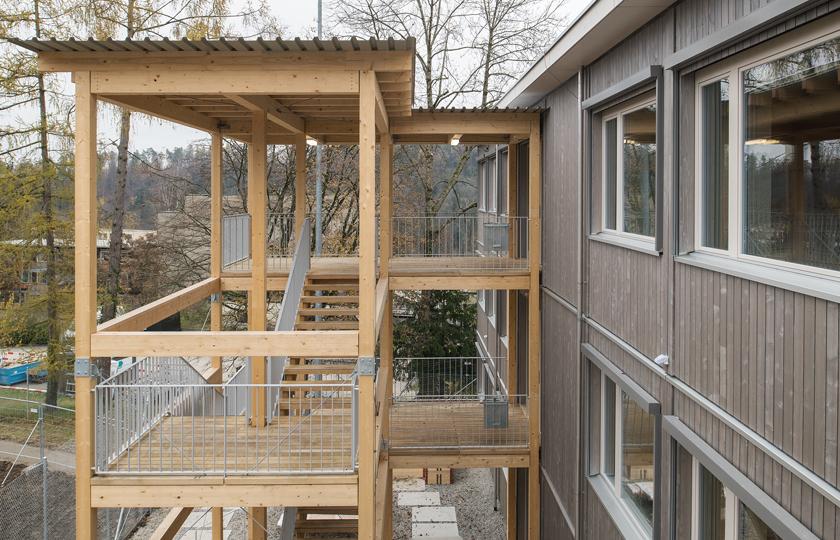 Schulraumprovisorium Falletsche: Treppenturm